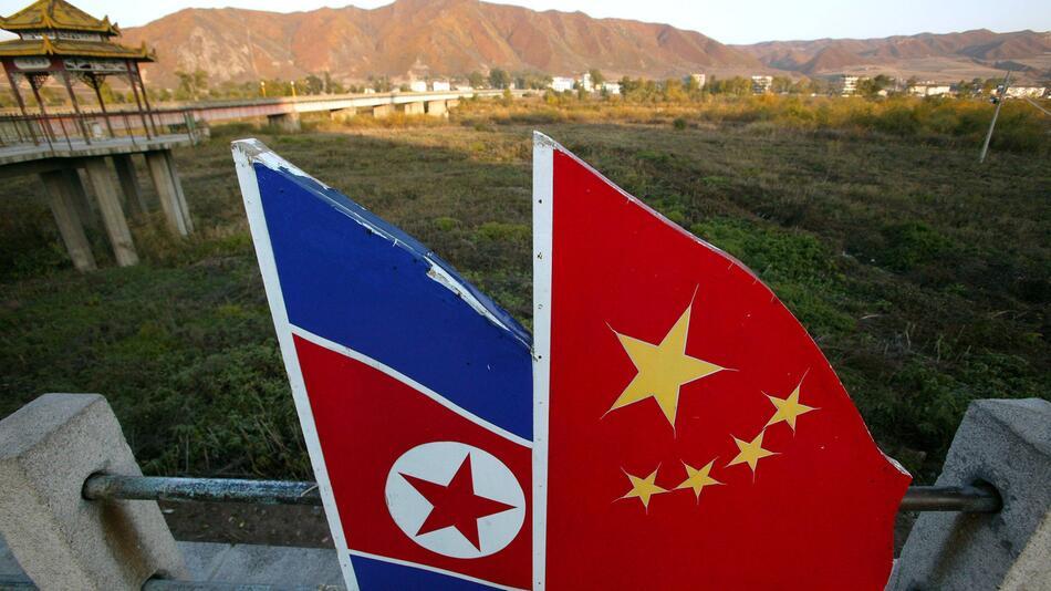Nordkorea, China, Tumen