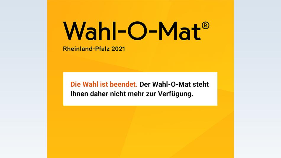 Bild zu Die Wahl in Rheinland-Pfalz 2021 ist beendet.