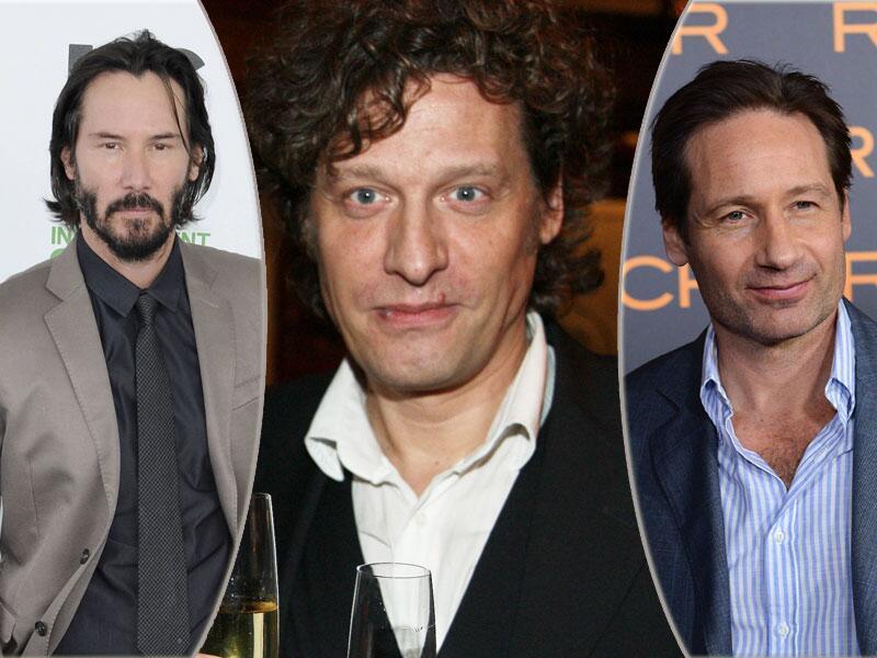Bild zu Keanu Reeves, David Völzl und David Duchovny