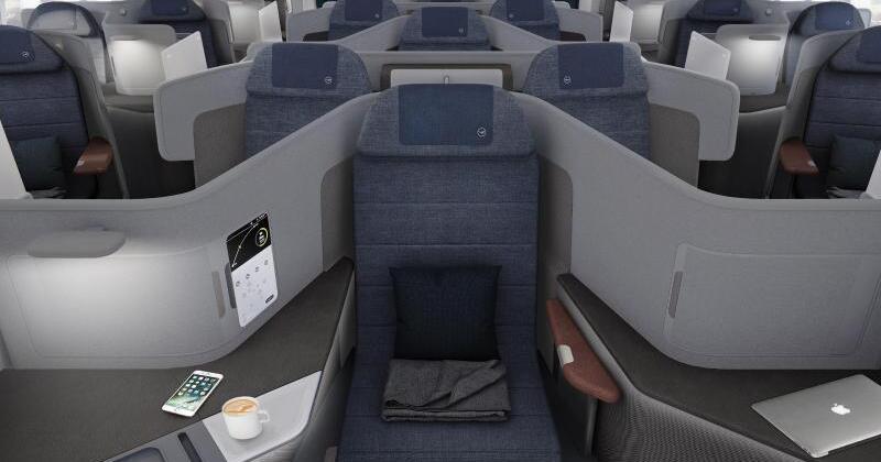 lufthansas neue business class hat sitz f r seitenschl fer. Black Bedroom Furniture Sets. Home Design Ideas