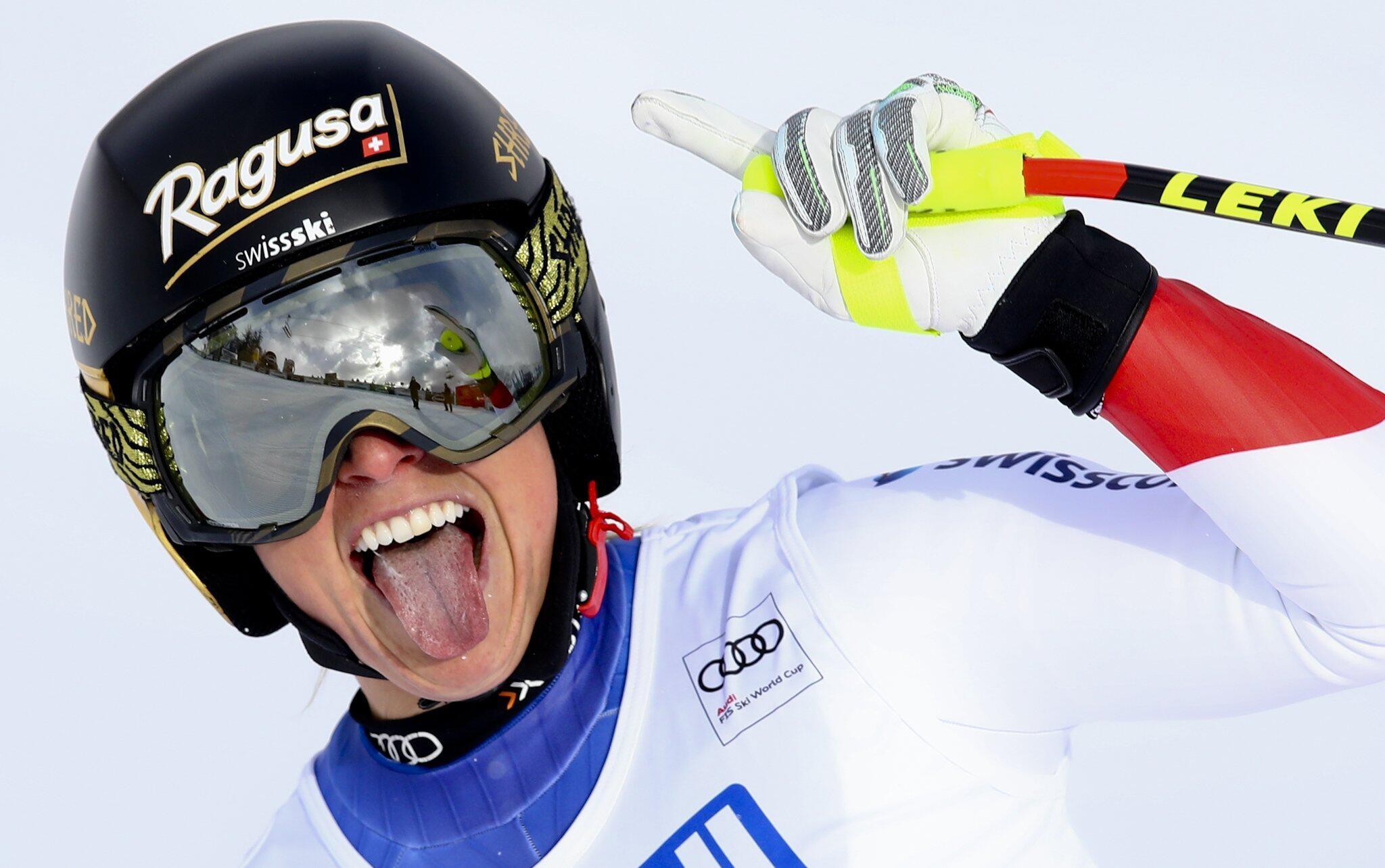 Bild zu Ski alpin: Weltcup - Super G - Damen