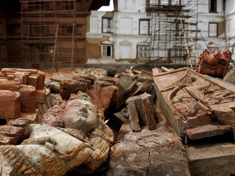 Bild zu Kathmandu ringt zum sein Welterbe