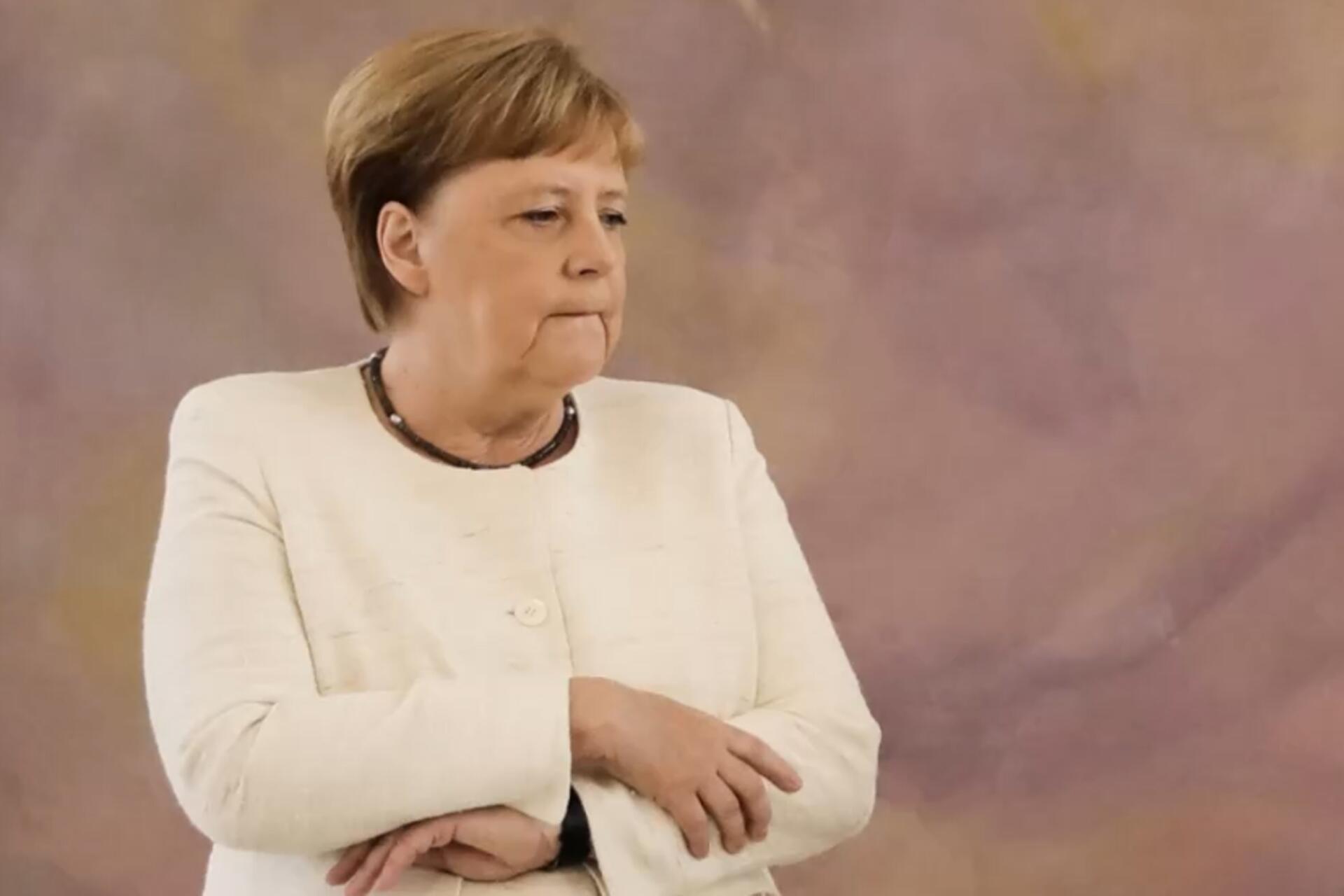 Bild zu Angela Merkel, Bundeskanzlerin, Schloss Bellevue, Berlin
