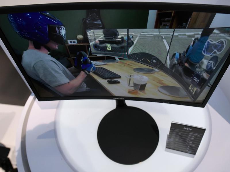 Bild zu Samsung zeigt gekrümmten Monitor für Spieler