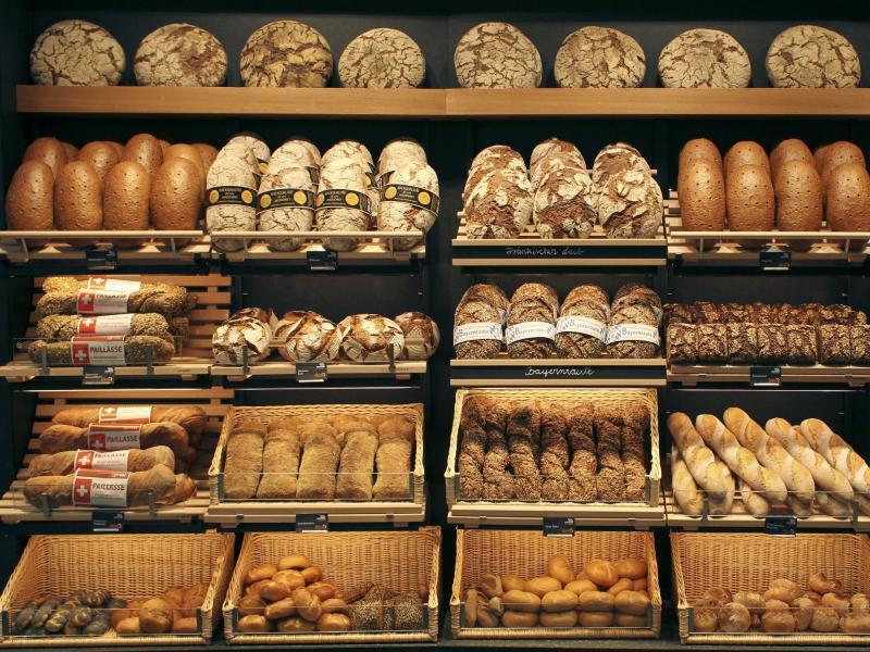 Bild zu Auslage einer Bäckerei