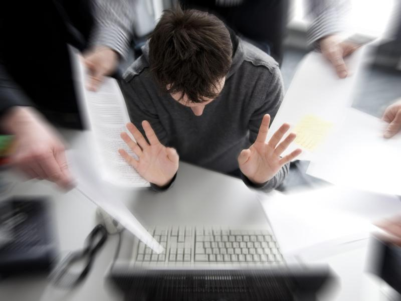 Bild zu Stress am Arbeitsplatz
