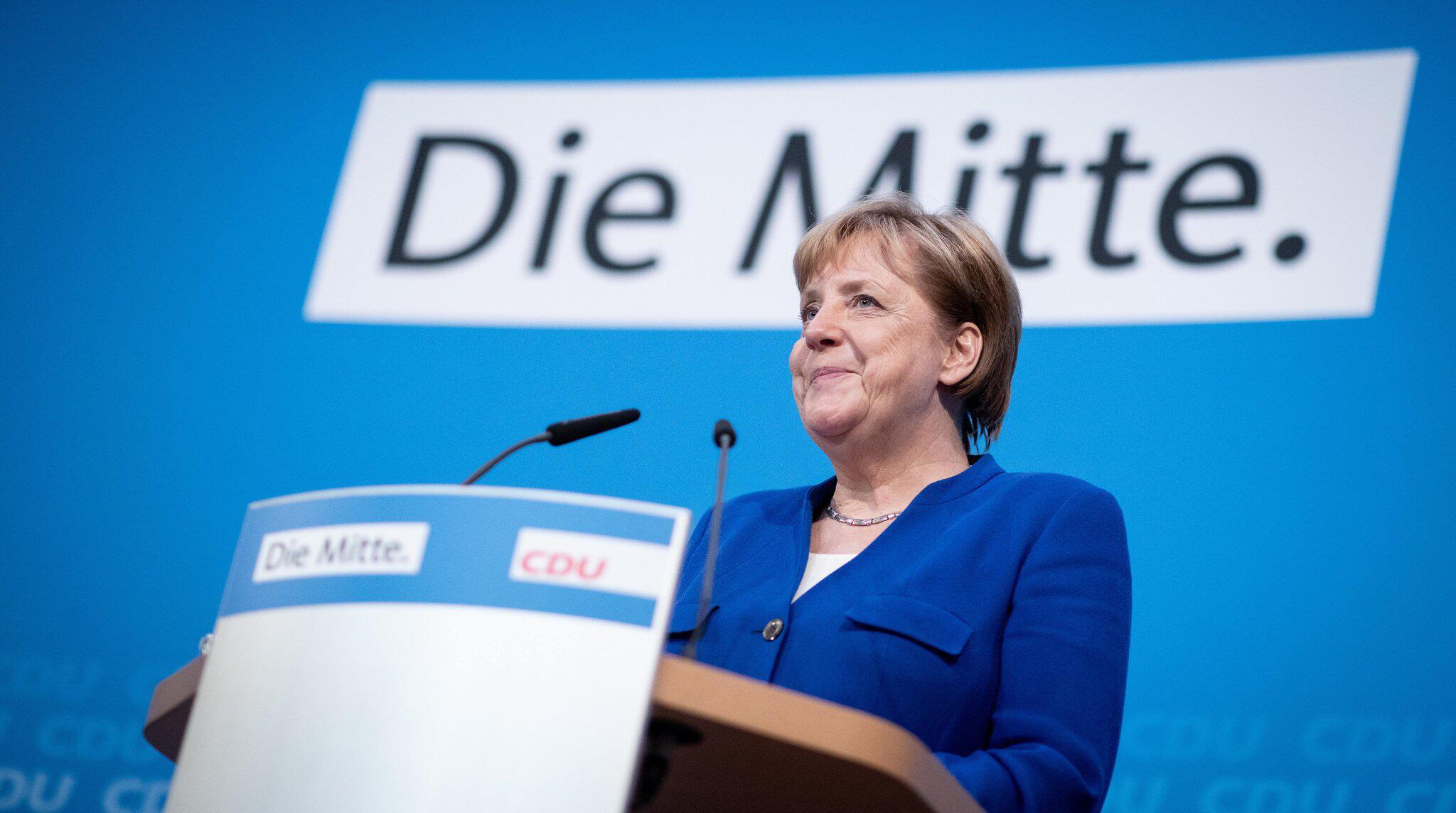 Bild zu Asylstreit - Pk Merkel