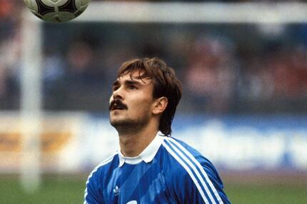 Raimond Aumann, FC Bayern München, Bundesliga, Ball, 1984/85