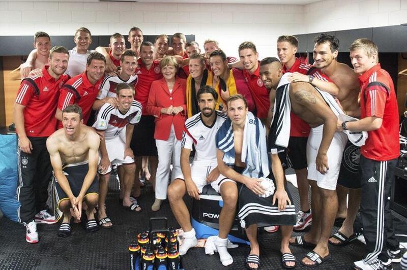 Bild zu WM 2014, Angela Merkel