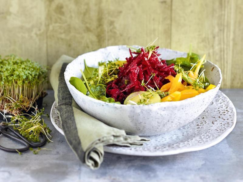 Bild zu Salat mit Roter Bete und Wasabi