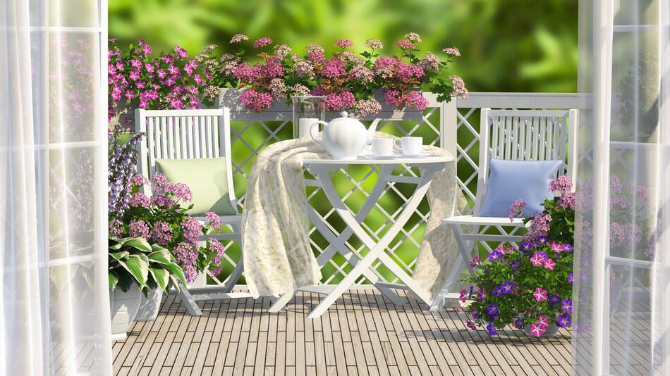 balkon, möbel, balkonmöbel, sonnenliege, rattan, balkontisch, balkonstühle, garten