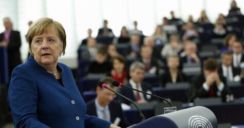 Bundeskanzlerin Merkel im Europaparlament