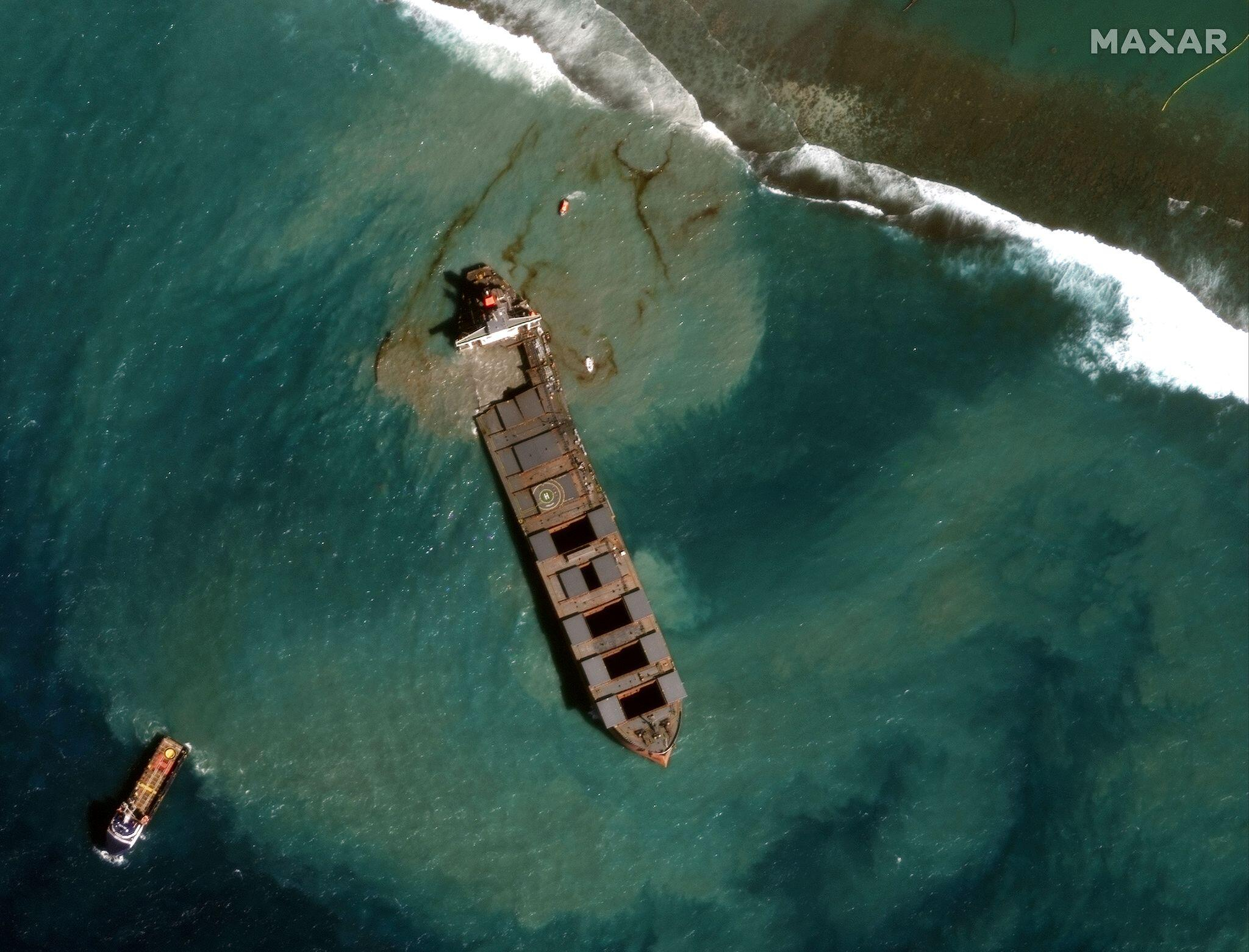 Bild zu Ölkatastrophe vor Mauritius