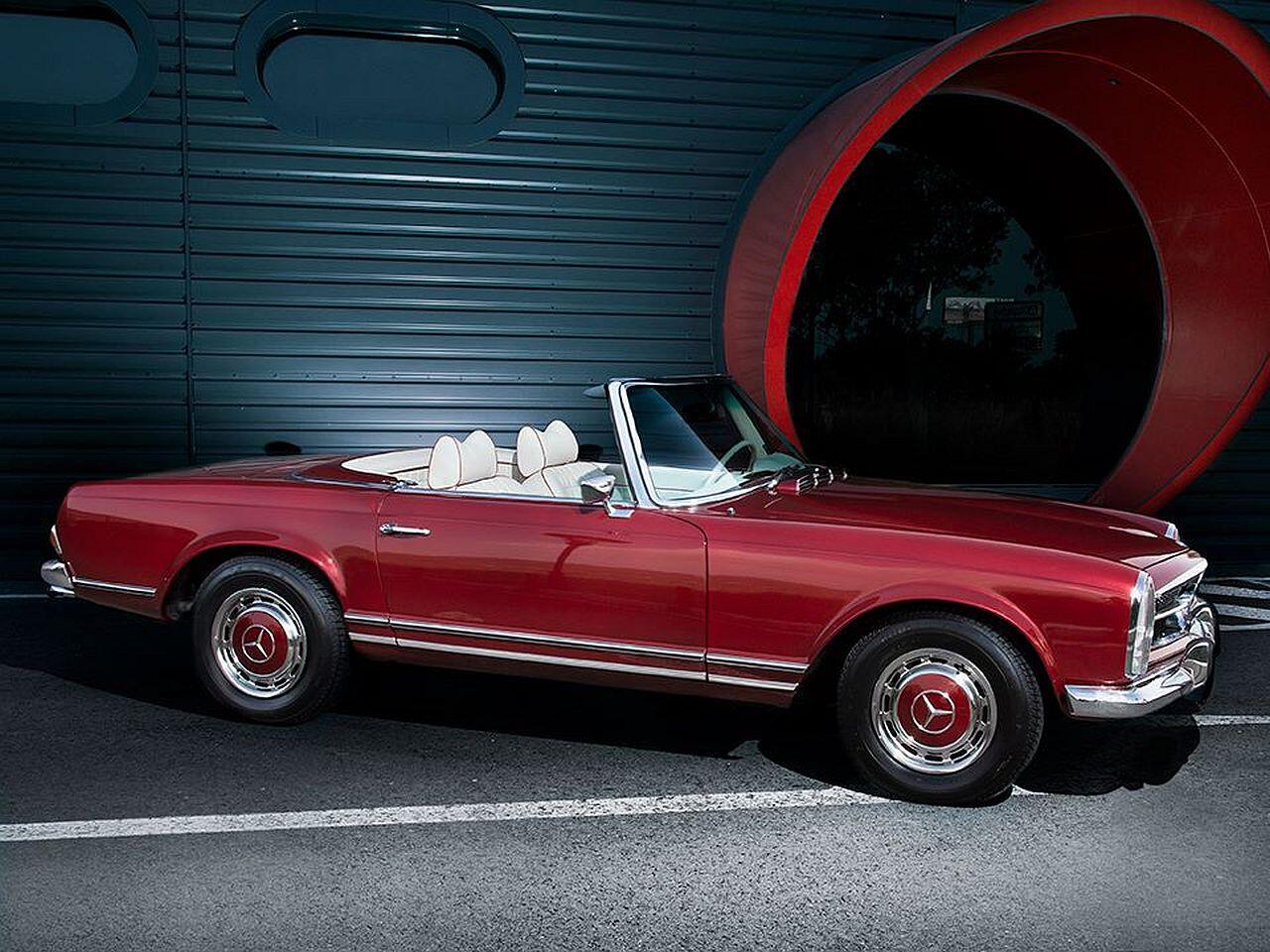 Bild zu Dermaßen aufpoliert ist der Mercedes ein absoluter Eyecatcher