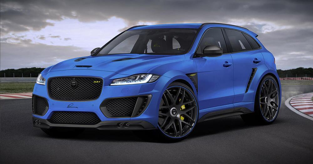 jaguar f pace von lumma design premium suv mutiert zum. Black Bedroom Furniture Sets. Home Design Ideas