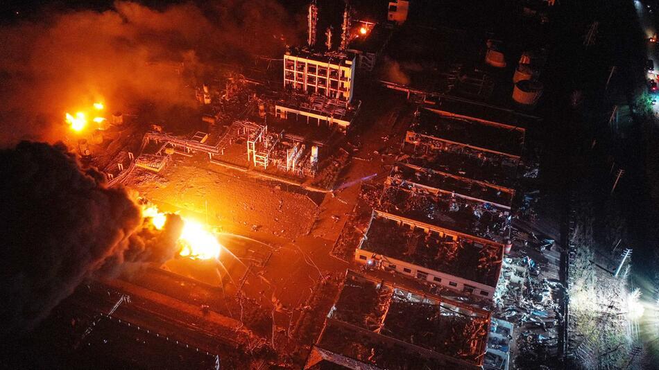 Explosion im Chemiepark in China
