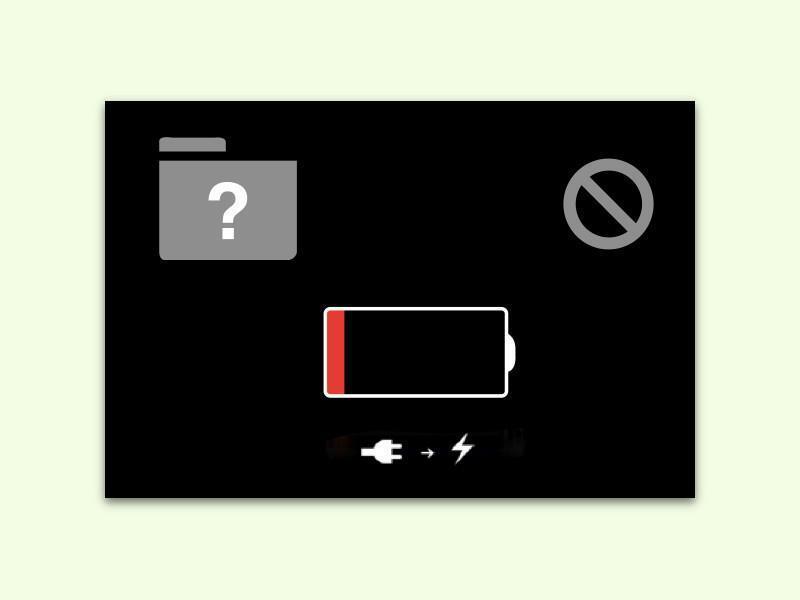 Bild zu Akku-Symbol beim Mac-Rechner
