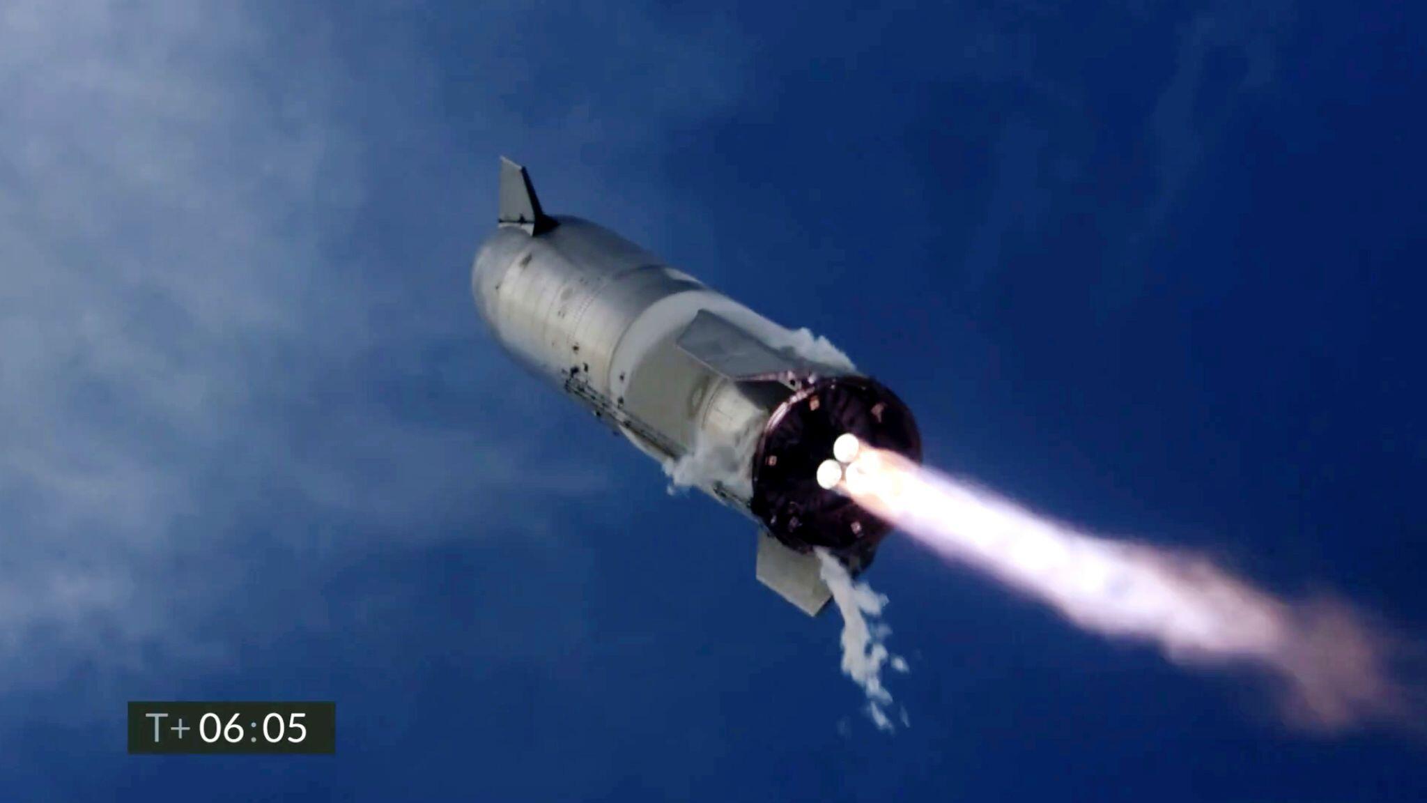 Bild zu Test einer SpaceX-Rakete