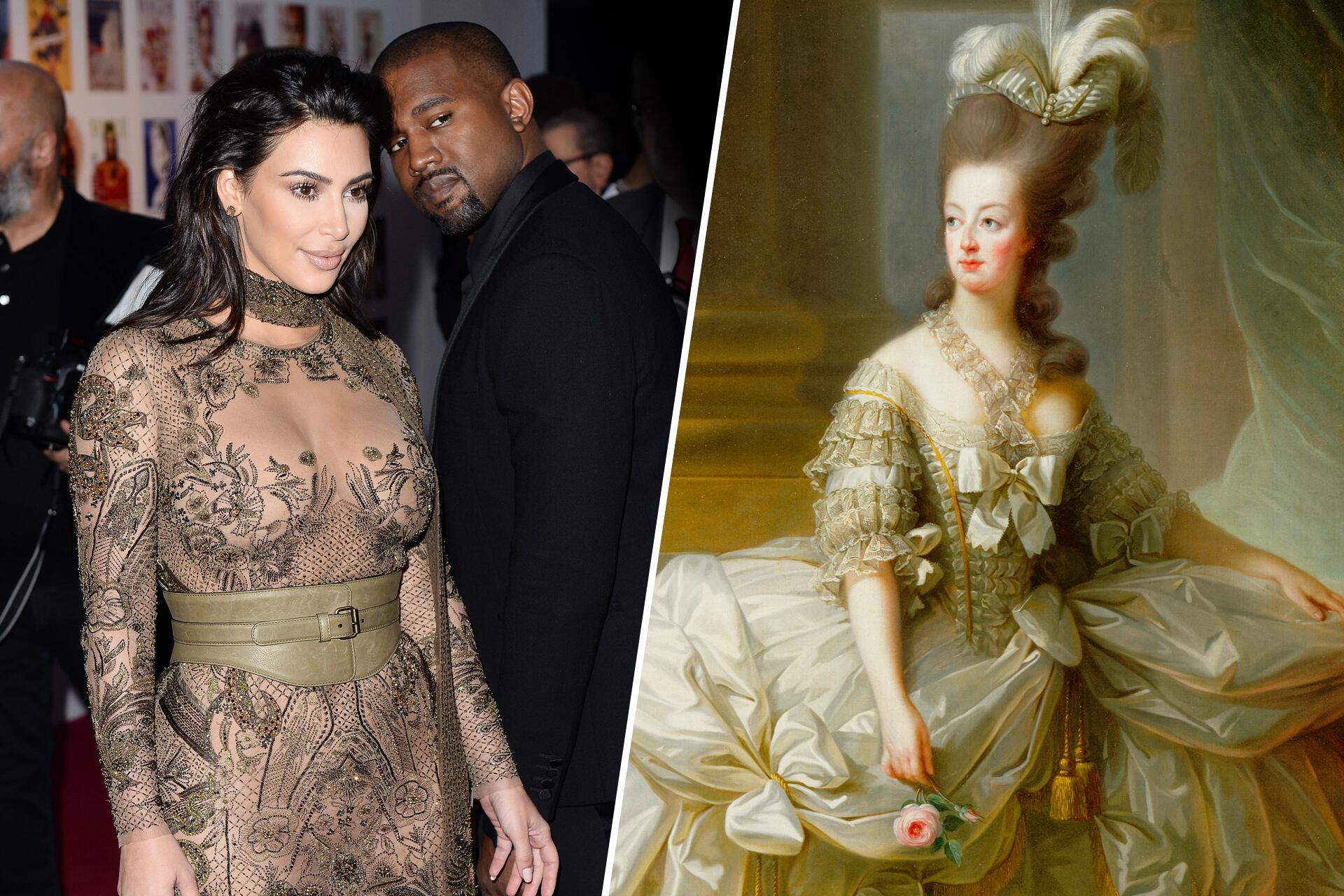 Bild zu Kanye West, Kim Kardashian, Marie Antoinette, Vergleich