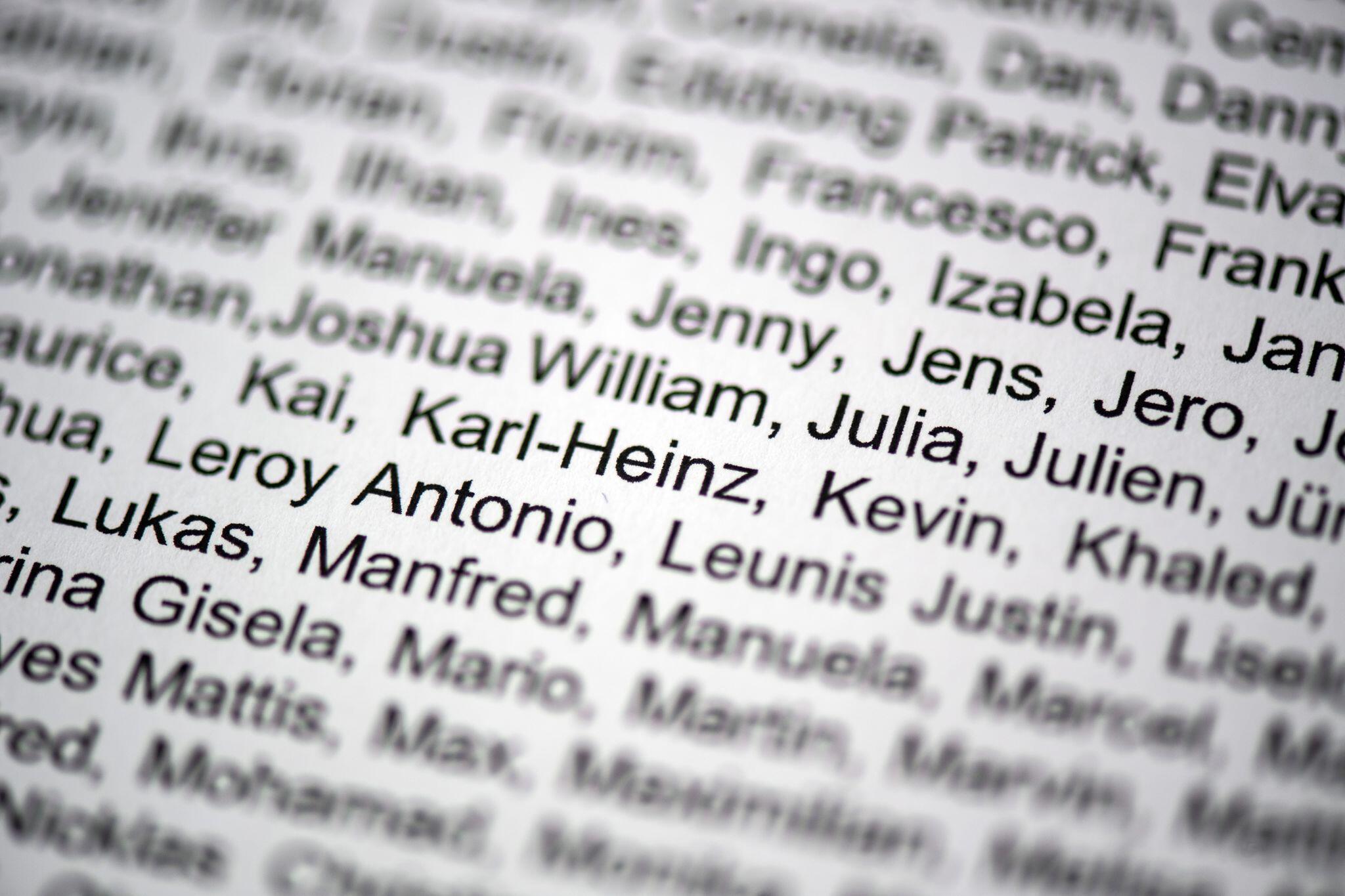 Bild zu Vornamenliste