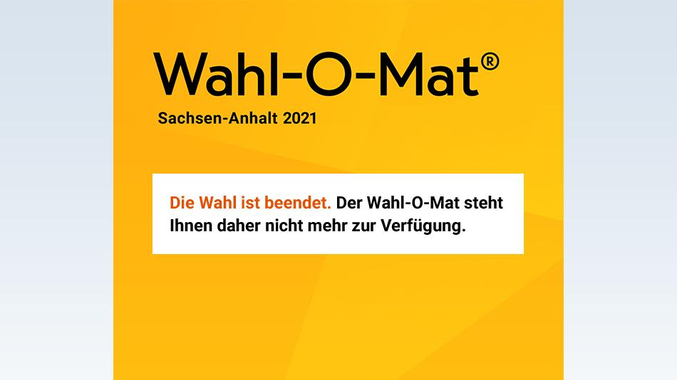 Wahl-O-Mat Sachsen-Anhalt.