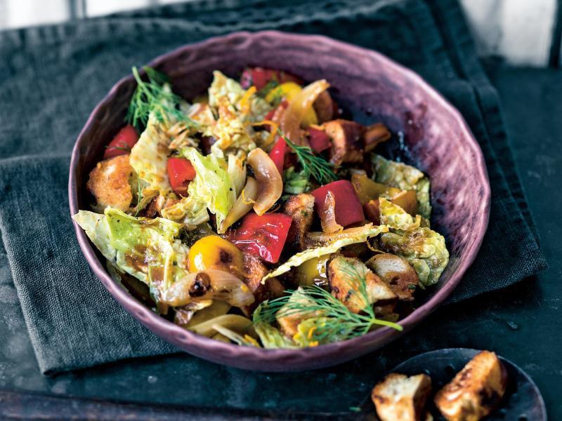 Bild zu Wirsing-Brezel-Salat
