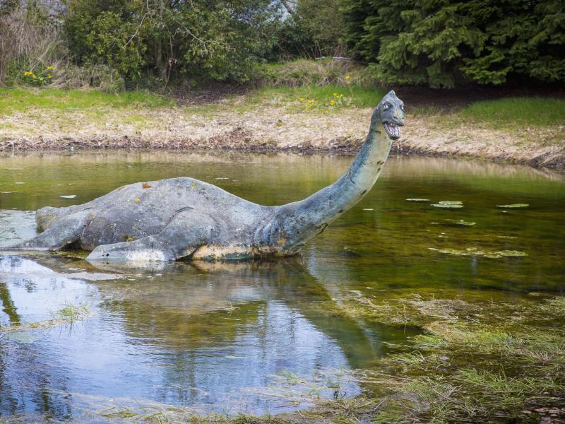 Bild zu Skulptur von Nessie