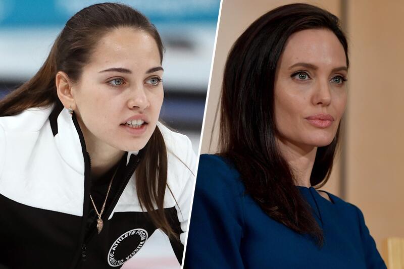 Bild zu Russische Angelina Jolie des Curlings begeistert Olympia-Fans