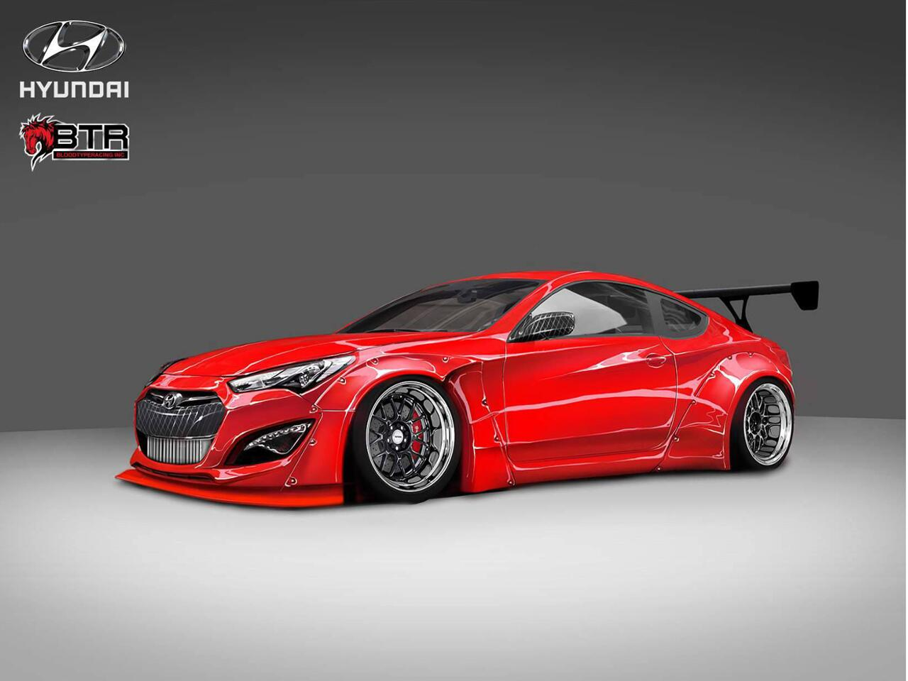 hyundai genesis coup mit fast ps tuning projekt. Black Bedroom Furniture Sets. Home Design Ideas