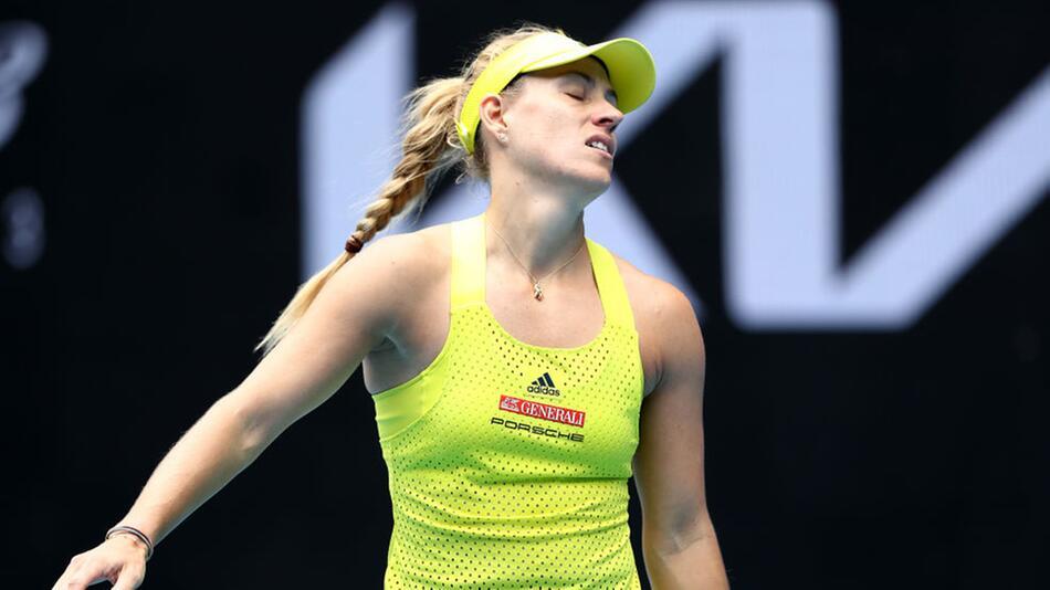 Angelique Kerber schied sang- und klanglos gegen Bernarda Pera in der ersten Runde aus.