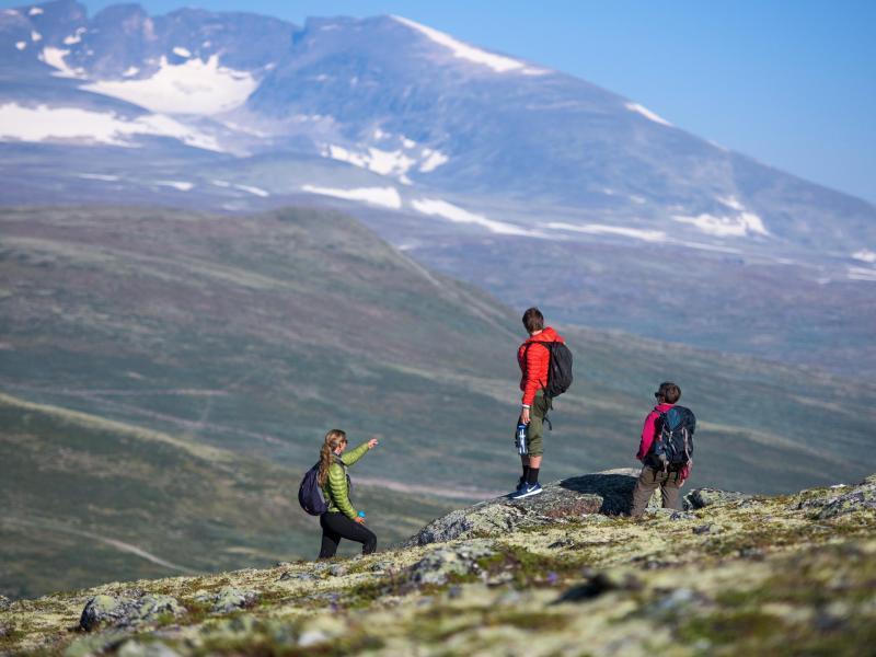 Bild zu Urlauber in den Bergen