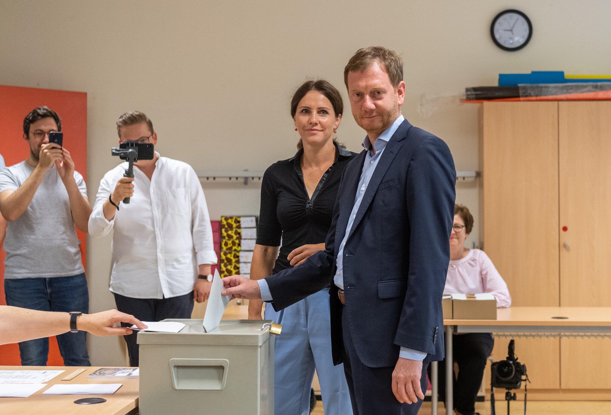 Bild zu Landtagswahl Sachsen - Stimmabgabe CDU