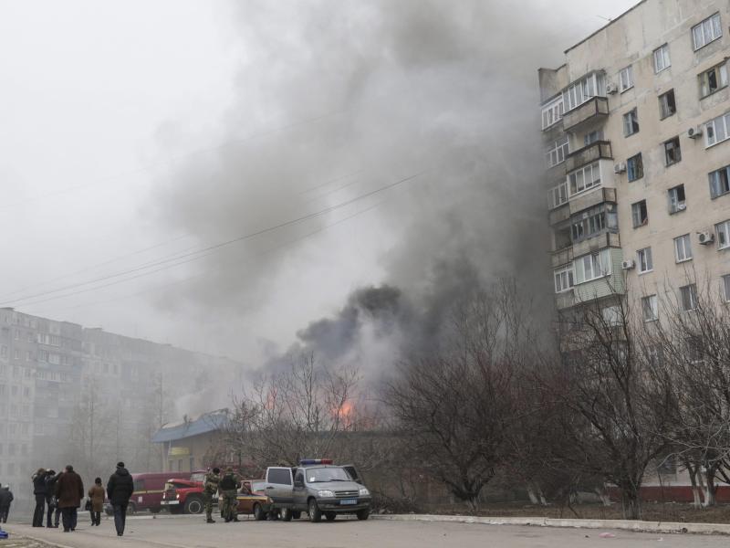 Bild zu Mariupol unter Beschuss