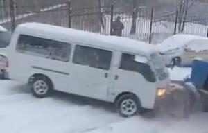 Russland: Schnee und Eis verursachen Massenkarambolage in Wladiwostok