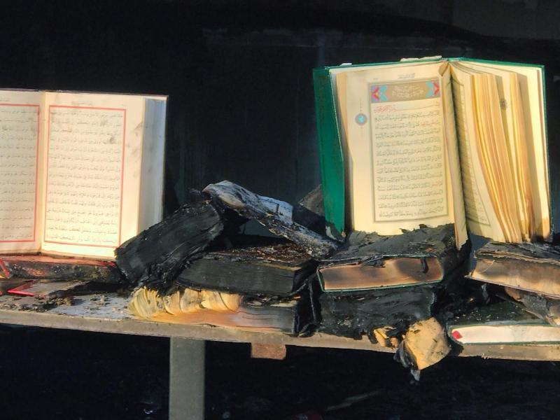 Bild zu Brand in Berliner Moschee