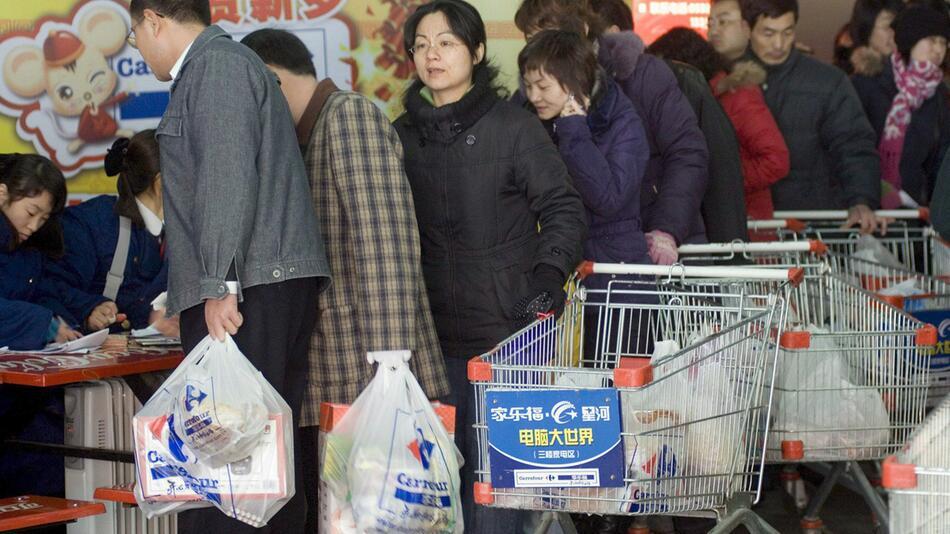 China verbietet Plastiktüten in Läden