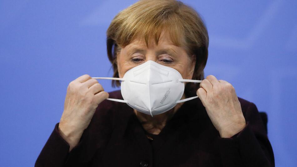 Kanzlerin Angela Merkel nach Videokonferenz