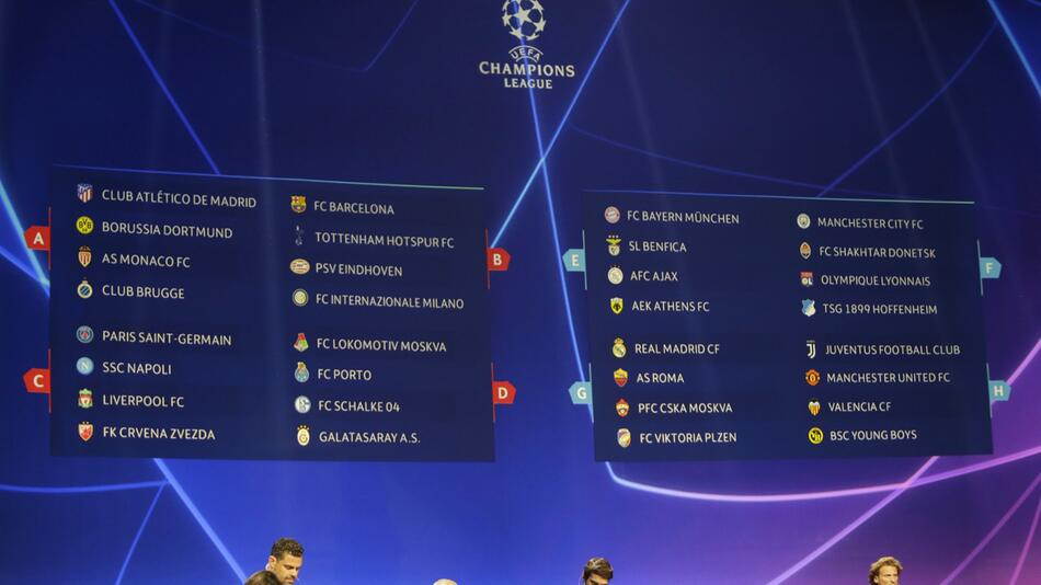 UEFA Champions League: Auslosung der Gruppenphase