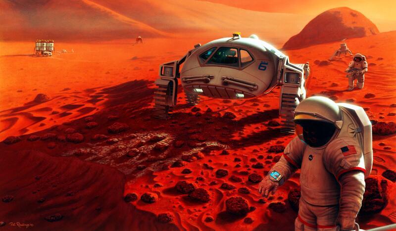Bild zu Menschen auf dem Mars