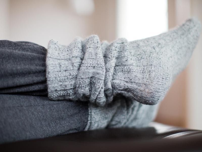 Bild zu Selbstgestrickte Socken