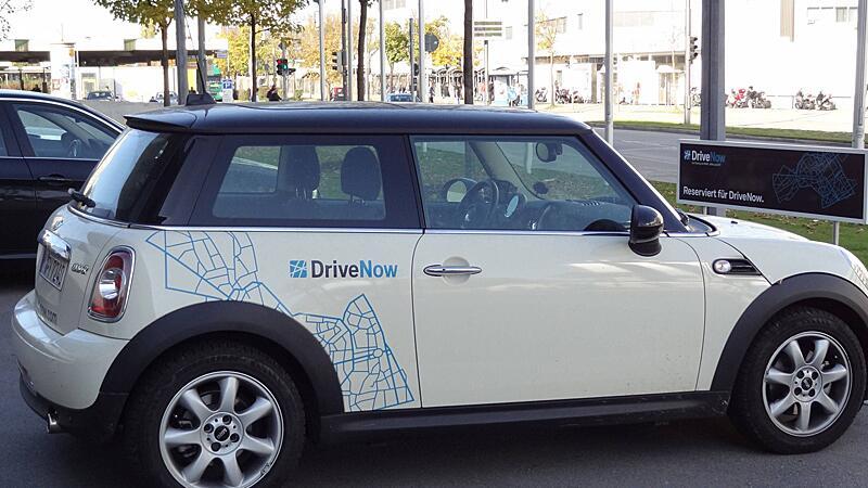 Fahrzeug von Drive Now