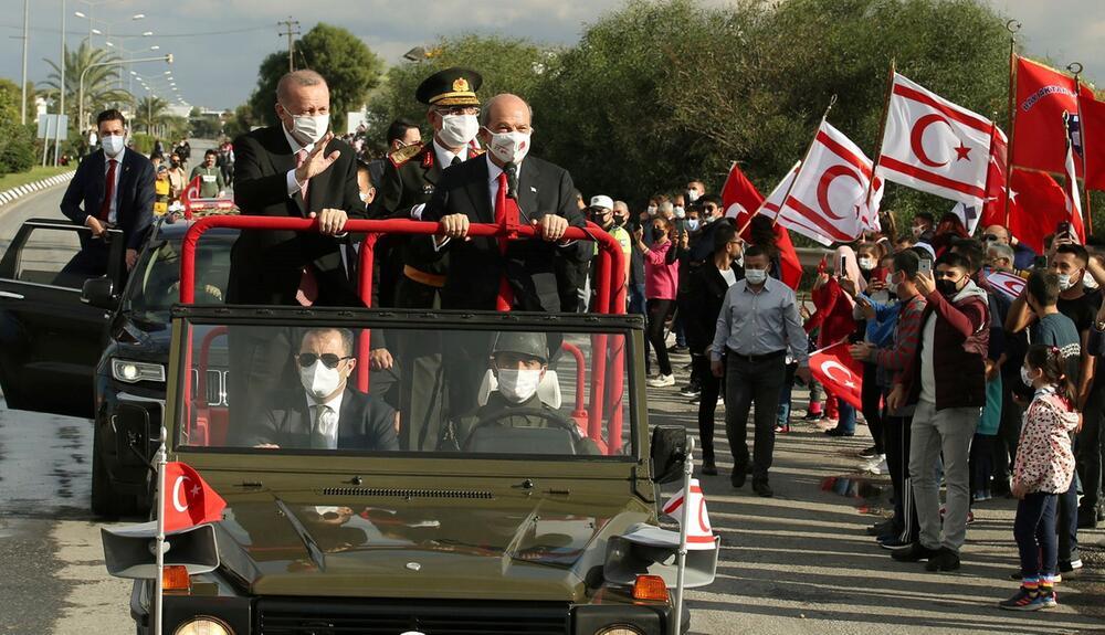 Türkischer Präsident Erdogan in Nordzypern