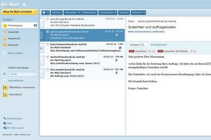 De-Mail Client von WEB.DE und GMX