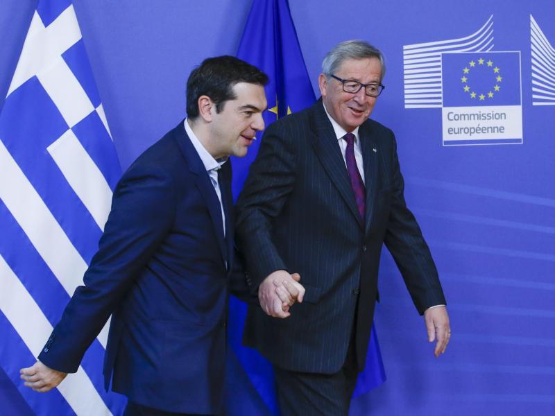 Bild zu Alexis Tsipras und Jean Claude Juncker