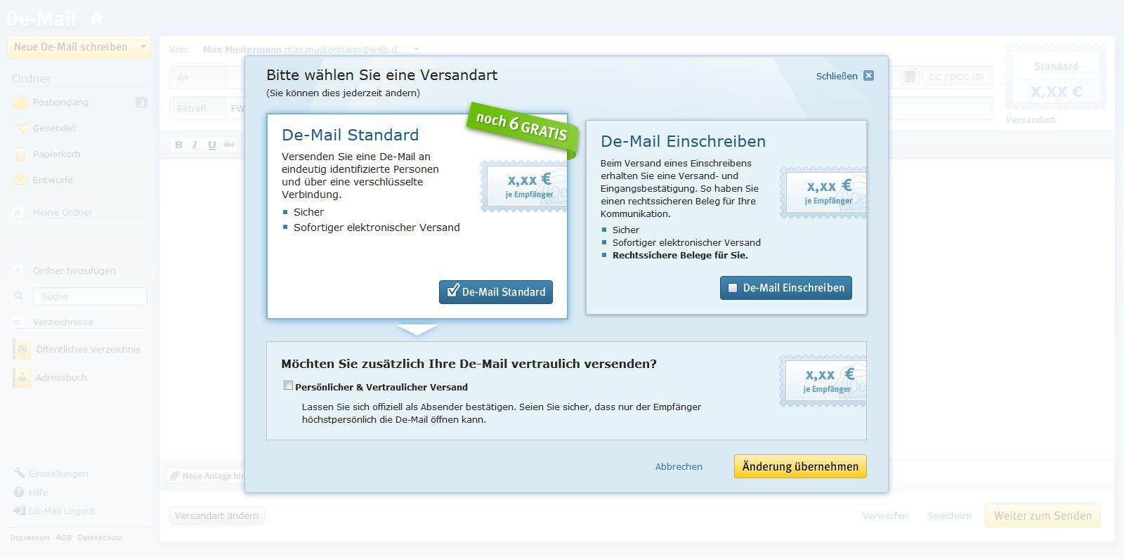 Bild zu De-Mail Client von WEB.DE und GMX