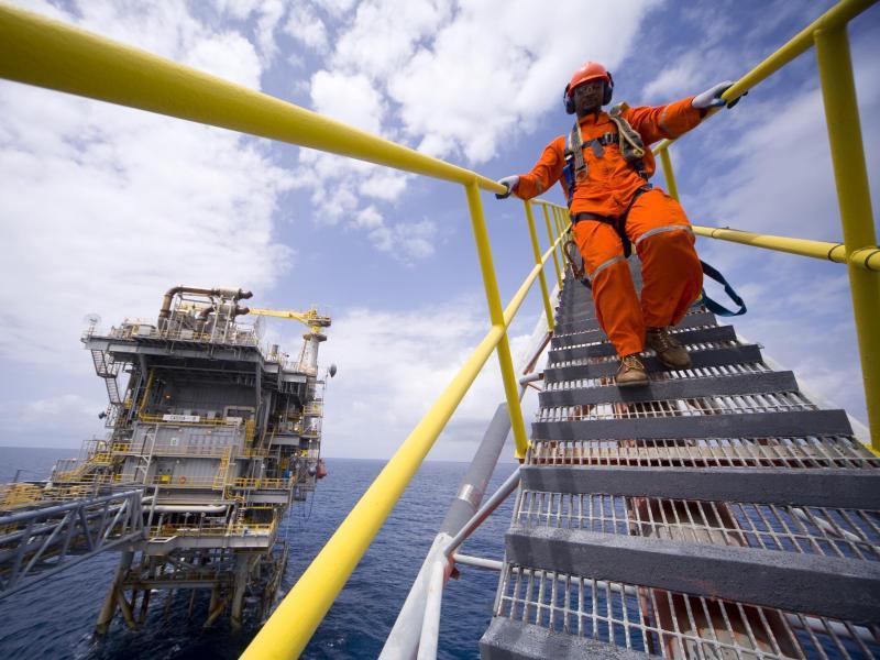 Bild zu Brücke einer Ölplattform