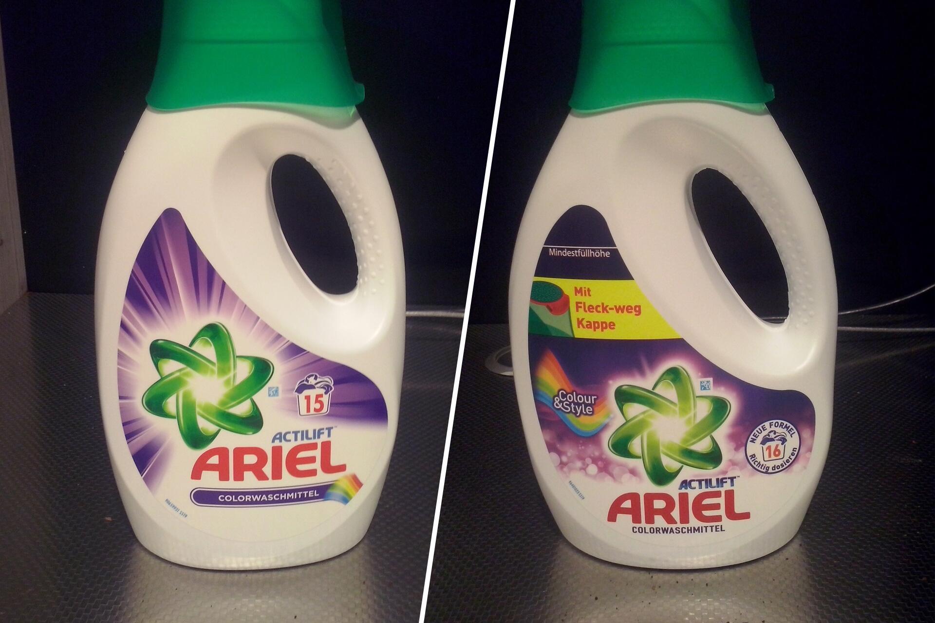 Bild zu waschmittel mogelpackung ariel