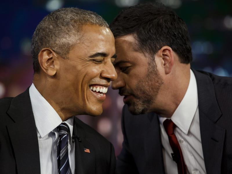 Bild zu Barack Obama + Jimmy Kimmel