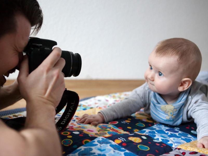 Bild zu Kinderfotos auf Augenhöhe