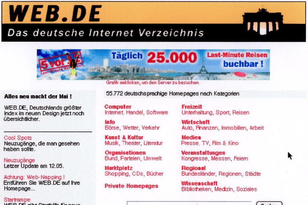 Web.de, Archiv